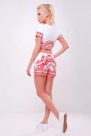 женский летний костюм топ и шорты. Узор коралл Костюм8 Весна. Цвет: принт купить