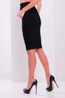 темно-синяя офисная юбка-карандаш. юбка мод. №20. Цвет: черный купить