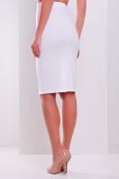 темно-синяя офисная юбка-карандаш. юбка мод. №20. Цвет: белый купить
