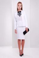 темно-синяя офисная юбка-карандаш. юбка мод. №20. Цвет: белый цена