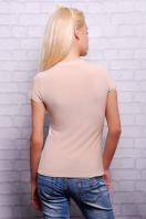 бежевая футболка с принтом на полочке. Девочка бант Футболка-2В. Цвет: принт купить