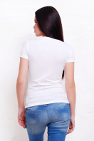прикольная футболка с губами. Mr. and Ms. Футболка-2В-Б. Цвет: принт купить