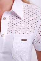 женская блузка белая большого размера. блуза Фауста-Б к/р. Цвет: белый цена