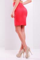 Прямая юбка выше колена кораллового цвета. юбка мод. №1. Цвет: коралл