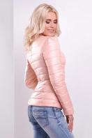 короткая женская куртка на осень цвета пудра. куртка Квин. Цвет: пудра купить