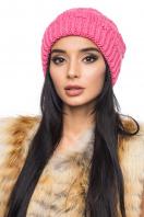 Розовая шапка с внутренним отворотом. Шапка 1060. Цвет: розовый купить