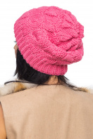Розовая шапка с внутренним отворотом. Шапка 1060. Цвет: розовый цена