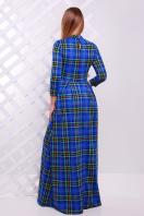 Длинное платье в пол цвета электрик в клетку. платье Шарлота д/р. Цвет: электрик-зеленая клетка купить