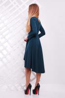 Женское платье красного цвета с ассиметричным низом. платье Лика д/р. Цвет: изумрудный купить
