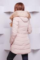 теплая бежевая куртка. Куртка 888. Цвет: св. бежевый купить