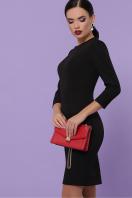 Облегающее платье выше колен красного цвета. платье Модеста д/р. Цвет: черный купить