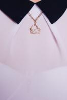 Строгое темно-синее платье с белым верхом. платье Флоренс д/р. Цвет: черный-белая отделка цена