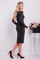 теплое сиреневое платье. платье Гвинея д/р. Цвет: черный купить