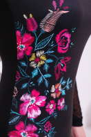 Платье синего цвета с верхом и рукавами из сетки. Вышивка платье Донна2 д/р. Цвет: черный в интернет-магазине
