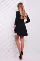 Нарядный женский юбочный костюм с баской. Узор черный Костюм Элизабет. Цвет: черный-белый купить