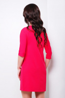 темно-синее платье прямого кроя. платье Элика д/р. Цвет: красный