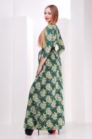 Серое платье макси, украшенное лапкой и розами. платье Шарли д/р. Цвет: зеленый-лапка-роза купить