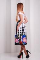Платье с облегающим верхом и свободной юбкой ниже колен. Пион-горох платье Эмми б/р. Цвет: принт купить