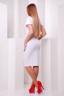 Черное облегающее платье с принтом на полочке. Маки платье Питрэса к/р. Цвет: белый купить