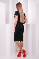 Черное облегающее платье с принтом на полочке. Маки платье Питрэса к/р. Цвет: черный купить