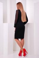 Черное платье с рукавами из шифона и принтом с маками. Маки платье Лусена д/р. Цвет: принт-кожа отделка купить