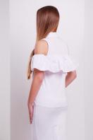 персиковая блузка с воланом. блуза Калелья б/р. Цвет: белый купить