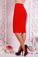 черная юбка-карандаш до колена. юбка мод. №20. Цвет: красный купить