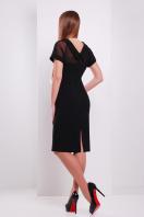 Платье по фигуре черного цвета с верхом из сетки. платье Алесандра к/р. Цвет: черный купить