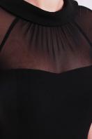 Платье по фигуре черного цвета с верхом из сетки. платье Алесандра к/р. Цвет: черный цена