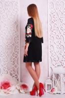 трикотажное платье с цветочным прнтом. Букет маки платье Тая-3ФК д/р. Цвет: принт-кожа отделка купить