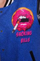 принтованная куртка-бомбер из кашемира. Джинсы-губы куртка Бомбер. Цвет: принт цена