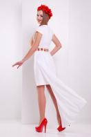 платье с фольклорным принтом и съемной юбкой. Фольклор платье Аркадия б/р. Цвет: белый купить