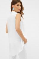 розовая блузка без рукавов. блуза Санта-Круз б/р. Цвет: белый цена
