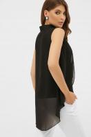 розовая блузка без рукавов. блуза Санта-Круз б/р. Цвет: черный цена