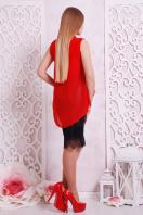 Черная шифоновая блузка без рукавов. блуза Санта-Круз б/р. Цвет: красный в интернет-магазине