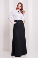 Длинная юбка черного цвета. юбка мод. №24. Цвет: черный меланж купить