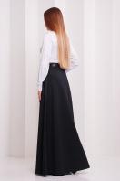 Длинная юбка черного цвета. юбка мод. №24. Цвет: черный меланж цена