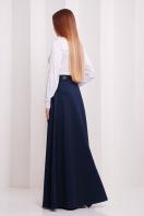 Длинная юбка черного цвета. юбка мод. №24. Цвет: т.синий меланж купить