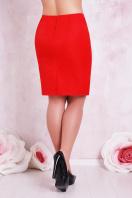 прямая юбка цвета электрик для полных женщин. юбка мод. №1 Б. Цвет: красный купить