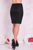 прямая юбка цвета электрик для полных женщин. юбка мод. №1 Б. Цвет: черный купить