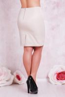 прямая юбка цвета электрик для полных женщин. юбка мод. №1 Б. Цвет: св. бежевый купить