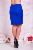 прямая юбка цвета электрик для полных женщин. юбка мод. №1 Б. Цвет: электрик купить