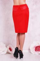 прямая бежевая юбка большого размера. юбка мод. №12 Б. Цвет: красный купить