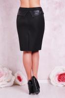 прямая бежевая юбка большого размера. юбка мод. №12 Б. Цвет: черный купить