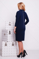 деловое черное платье большого размера. платье Элина-Б д/р. Цвет: темно синий купить