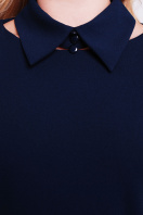 деловое черное платье большого размера. платье Элина-Б д/р. Цвет: темно синий цена
