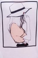 длинная женская футболка из вискозы. Шляпа футболка Фрак-2. Цвет: принт цена