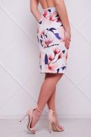 Летняя юбка-карандаш с цветочным принтом. Магнолии юбка мод. №14 Оригами. Цвет: принт купить