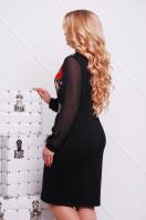 платье с маками и шифоновыми рукавами. Маки платье Лусена-Б д/р. Цвет: принт-кожа отделка купить