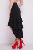 черная юбка с воланами. юбка мод. №25 (длинная). Цвет: черный купить